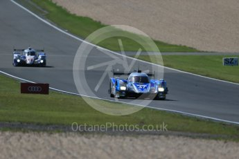 World © Octane Photographic Ltd. FIA World Endurance Championship (WEC), 6 Hours of Nurburgring , Germany - Race, Sunday 30th August 2015. KCMG – Oreca 05 – LMP2 – Matthew Howson, Richard Bradley and Nick Tandy and Toyota Racing – Toyota TS040 Hybrid - LMP1 - Alexander Wurz, Stephane Sarrazin and Mike Conway. Digital Ref : 1398LB1D7378