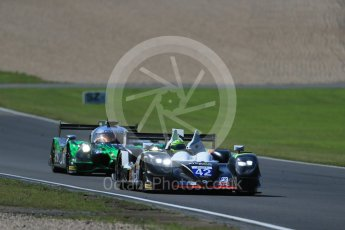 World © Octane Photographic Ltd. FIA World Endurance Championship (WEC), 6 Hours of Nurburgring , Germany - Race, Sunday 30th August 2015. Straka Racing – Gibson 015S - LMP2 – Nick Leventis, Jonny Kane and Danny Watts and Extreme Speed Motorsports (ESM) - HPD Ligier JS P2 – LMP2 – Scott Sharp, Ryan Dalziel and David Heinemeier Hansson. Digital Ref : 1398LB1D7454