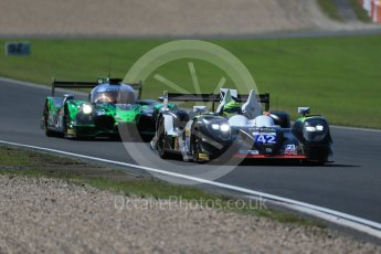 World © Octane Photographic Ltd. FIA World Endurance Championship (WEC), 6 Hours of Nurburgring , Germany - Race, Sunday 30th August 2015. Straka Racing – Gibson 015S - LMP2 – Nick Leventis, Jonny Kane and Danny Watts and Extreme Speed Motorsports (ESM) - HPD Ligier JS P2 – LMP2 – Scott Sharp, Ryan Dalziel and David Heinemeier Hansson. Digital Ref : 1398LB1D7459