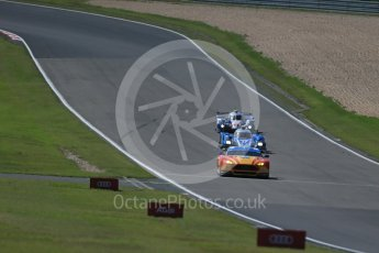 World © Octane Photographic Ltd. FIA World Endurance Championship (WEC), 6 Hours of Nurburgring , Germany - Race, Sunday 30th August 2015. Aston Martin Racing V8 – Aston Martin Vantage V8 - LMGTE Pro – Fernando Rees, Alex MacDowell and Richie Stanaway, KCMG – Oreca 05 – LMP2 – Matthew Howson, Richard Bradley and Nick Tandy and Toyota Racing – Toyota TS040 Hybrid - LMP1 - Alexander Wurz, Stephane Sarrazin and Mike Conway. Digital Ref : 1398LB1D7483