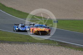 World © Octane Photographic Ltd. FIA World Endurance Championship (WEC), 6 Hours of Nurburgring , Germany - Race, Sunday 30th August 2015. Aston Martin Racing V8 – Aston Martin Vantage V8 - LMGTE Pro – Fernando Rees, Alex MacDowell and Richie Stanaway and KCMG – Oreca 05 – LMP2 – Matthew Howson, Richard Bradley and Nick Tandy. Digital Ref : 1398LB1D7501