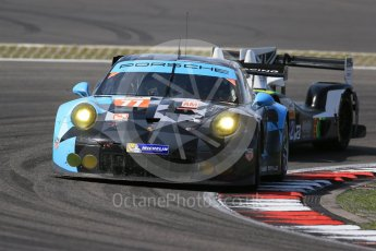 World © Octane Photographic Ltd. FIA World Endurance Championship (WEC), 6 Hours of Nurburgring , Germany - Race, Sunday 30th August 2015. Dempsey-Proton Racing – Porsche 911 RSR - LMGTE Am – Patrick Dempsey, Patrick Long and Marco Seefried and Straka Racing – Gibson 015S - LMP2 – Nick Leventis, Jonny Kane and Danny Watts. Digital Ref : 1398LB1D7703