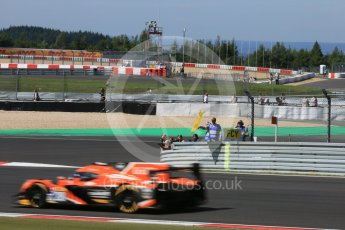 World © Octane Photographic Ltd. FIA World Endurance Championship (WEC), 6 Hours of Nurburgring , Germany - Race, Sunday 30th August 2015. G-Drive Racing – Nissan Ligier JS P2 – LMP2 – Gustavo Yacaman, Ricardo Gonzalez and Luis Felipe Derani. Digital Ref : 1398LB5D1231