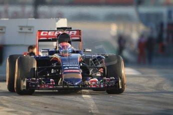 World © Octane Photographic Ltd. Scuderia Toro Rosso STR10 – Max Verstappen. Thursday 19th February 2015, F1 Winter testing, Circuit de Catalunya, Barcelona, Spain, Day 1. Digital Ref: 1187CB7B0084