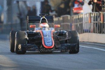 World © Octane Photographic Ltd. McLaren Honda MP4/30 – Jenson Button. Thursday 19th February 2015, F1 Winter testing, Circuit de Catalunya, Barcelona, Spain, Day 1. Digital Ref: 1187CB7B0122