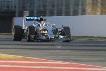 World © Octane Photographic Ltd. Mercedes AMG Petronas F1 W06 Hybrid – Lewis Hamilton. Thursday 19th February 2015, F1 Winter testing, Circuit de Catalunya, Barcelona, Spain, Day 1. Digital Ref : 1187CB7B0131