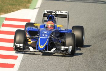 World © Octane Photographic Ltd. Sauber F1 Team C34-Ferrari – Felipe Nasr. Thursday 19th February 2015, F1 Winter testing, Circuit de Catalunya, Barcelona, Spain, Day 1. Digital Ref : 1187CB7B0470