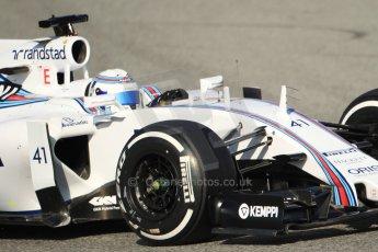 World © Octane Photographic Ltd. Williams Martini Racing FW37 – Susie Wolff. Thursday 19th February 2015, F1 Winter testing, Circuit de Catalunya, Barcelona, Spain, Day 1. Digital Ref:1187CB7B0532