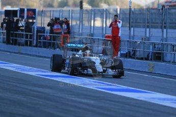 World © Octane Photographic Ltd. Mercedes AMG Petronas F1 W06 Hybrid – Lewis Hamilton. Thursday 19th February 2015, F1 Winter testing, Circuit de Catalunya, Barcelona, Spain, Day 1. Digital Ref : 1187LB1D5446