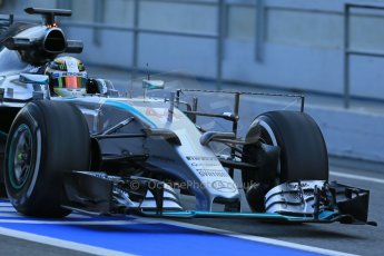 World © Octane Photographic Ltd. Mercedes AMG Petronas F1 W06 Hybrid – Lewis Hamilton. Thursday 19th February 2015, F1 Winter testing, Circuit de Catalunya, Barcelona, Spain, Day 1. Digital Ref : 1187LB1D5454
