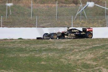 World © Octane Photographic Ltd. Lotus F1 Team E23 Hybrid – Pastor Maldonado. Thursday 19th February 2015, F1 Winter testing, Circuit de Catalunya, Barcelona, Spain, Day 1. Digital Ref : 1187LB1D5594