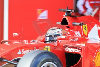 World © Octane Photographic Ltd. Scuderia Ferrari SF15-T – Kimi Raikkonen Thursday 19th February 2015, F1 Winter testing, Circuit de Catalunya, Barcelona, Spain, Day 1. Digital Ref: 1187LB1D5967