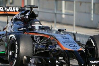 World © Octane Photographic Ltd. Sahara Force India VJM07 – Sergio Perez. Thursday 19th February 2015, F1 Winter testing, Circuit de Catalunya, Barcelona, Spain, Day 1. Digital Ref : 1187LB1D6138