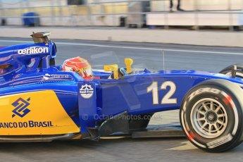 World © Octane Photographic Ltd. Sauber F1 Team C34-Ferrari – Felipe Nasr. Thursday 19th February 2015, F1 Winter testing, Circuit de Catalunya, Barcelona, Spain, Day 1. Digital Ref : 1187LW1L4827