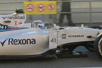 World © Octane Photographic Ltd. Williams Martini Racing FW37 – Susie Wolff. Thursday 19th February 2015, F1 Winter testing, Circuit de Catalunya, Barcelona, Spain, Day 1. Digital Ref: 1187LW1L4850