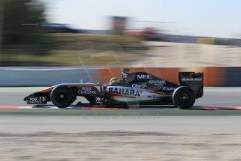 World © Octane Photographic Ltd. Sahara Force India VJM07 – Pascal Wehrlein. Thursday 19th February 2015, F1 Winter testing, Circuit de Catalunya, Barcelona, Spain, Day 1. Digital Ref : 1187LW1L5544