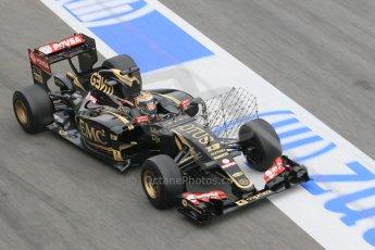World © Octane Photographic Ltd. Lotus F1 Team E23 Hybrid – Pastor Maldonado. Saturday 21st February 2015, F1 Winter testing, Circuit de Barcelona Catalunya, Spain, Day 3. Digital Ref :1190CB1L7021