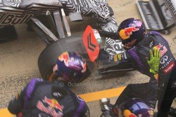 World © Octane Photographic Ltd. Infiniti Red Bull Racing RB11 – Daniil Kvyat practice pitstop. Saturday 21st February 2015, F1 Winter testing, Circuit de Barcelona Catalunya, Spain, Day 3. Digital Ref : 1190CB1L7359