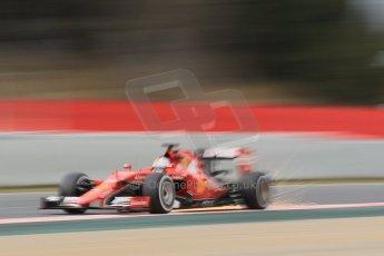 World © Octane Photographic Ltd. Scuderia Ferrari SF15-T– Sebastian Vettel. Saturday 21st February 2015, F1 Winter testing, Circuit de Barcelona Catalunya, Spain, Day 3. Digital Ref: 1190CB1L7766