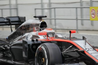 World © Octane Photographic Ltd. McLaren Honda MP4/30 – Jenson Button. Saturday 21st February 2015, F1 Winter testing, Circuit de Barcelona Catalunya, Spain, Day 3. Digital Ref: 1190CB1L7959