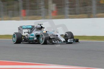 World © Octane Photographic Ltd. Mercedes AMG Petronas F1 W06 Hybrid – Lewis Hamilton. Saturday 21st February 2015, F1 Winter testing, Circuit de Barcelona Catalunya, Spain, Day 3. Digital Ref : 1190CB1L8176