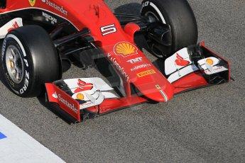 World © Octane Photographic Ltd. Scuderia Ferrari SF15-T– Sebastian Vettel. Saturday 21st February 2015, F1 Winter testing, Circuit de Barcelona Catalunya, Spain, Day 3. Digital Ref: 1190CB1L8602