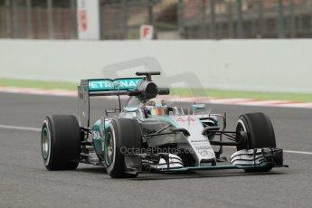 World © Octane Photographic Ltd. Mercedes AMG Petronas F1 W06 Hybrid – Lewis Hamilton. Saturday 21st February 2015, F1 Winter testing, Circuit de Barcelona Catalunya, Spain, Day 3. Digital Ref : 1190CB7L6274