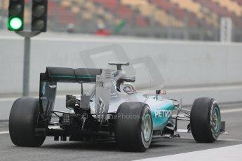 World © Octane Photographic Ltd. Mercedes AMG Petronas F1 W06 Hybrid – Lewis Hamilton. Saturday 21st February 2015, F1 Winter testing, Circuit de Catalunya, Barcelona, Spain, Day 3. Digital Ref : 1190LB1D7781