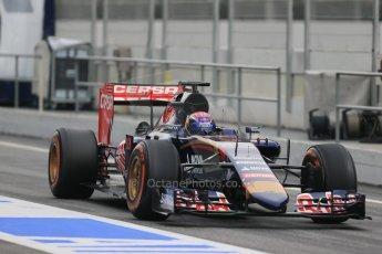 World © Octane Photographic Ltd. Scuderia Toro Rosso STR10 – Max Verstappen, Saturday 21st February 2015, F1 Winter testing, Circuit de Catalunya, Barcelona, Spain, Day 2. Digital Ref: 1190LB1D7801