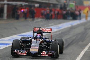 World © Octane Photographic Ltd. Scuderia Toro Rosso STR10 – Max Verstappen, Saturday 21st February 2015, F1 Winter testing, Circuit de Catalunya, Barcelona, Spain, Day 2. Digital Ref: 1190LB1D7957