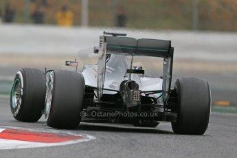World © Octane Photographic Ltd. Mercedes AMG Petronas F1 W06 Hybrid – Lewis Hamilton. Saturday 21st February 2015, F1 Winter testing, Circuit de Catalunya, Barcelona, Spain, Day 3. Digital Ref : 1190LB1D8660