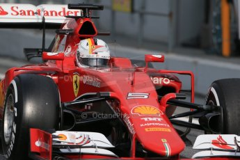 World © Octane Photographic Ltd. Scuderia Ferrari SF15-T– Sebastian Vettel. Saturday 21st February 2015, F1 Winter testing, Circuit de Catalunya, Barcelona, Spain, Day 3. Digital Ref: 1190LB1D8788