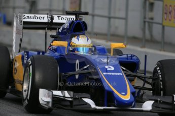 World © Octane Photographic Ltd. Sauber F1 Team C34-Ferrari – Marcus Ericsson. Saturday 21st February 2015, F1 Winter testing, Circuit de Catalunya, Barcelona, Spain, Day 3. Digital Ref : 1190LB1D8875