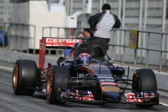 World © Octane Photographic Ltd. Scuderia Toro Rosso STR10 – Max Verstappen, Saturday 21st February 2015, F1 Winter testing, Circuit de Catalunya, Barcelona, Spain, Day 2. Digital Ref: 1190LB1D8913