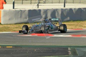 World © Octane Photographic Ltd. Mercedes AMG Petronas F1 W06 Hybrid – Nico Rosberg. Sunday 22nd February 2015, F1 Winter testing, Circuit de Barcelona Catalunya, Spain, Day 4. Digital Ref : 1191CB1L8732