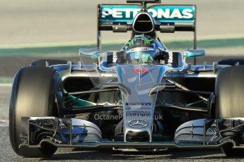 World © Octane Photographic Ltd. Mercedes AMG Petronas F1 W06 Hybrid – Nico Rosberg. Sunday 22nd February 2015, F1 Winter testing, Circuit de Barcelona Catalunya, Spain, Day 4. Digital Ref : 1191CB1L8745