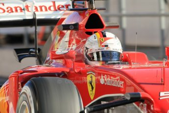 World © Octane Photographic Ltd. Scuderia Ferrari SF15-T– Sebastian Vettel. Sunday 22nd February 2015, F1 Winter test #2, Circuit de Barcelona Catalunya, Spain, Day 4. Digital Ref: 1191CB1L9070