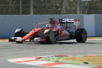 World © Octane Photographic Ltd. Scuderia Ferrari SF15-T– Sebastian Vettel. Sunday 22nd February 2015, F1 Winter test #2, Circuit de Barcelona Catalunya, Spain, Day 4. Digital Ref: 1191CB1L9202