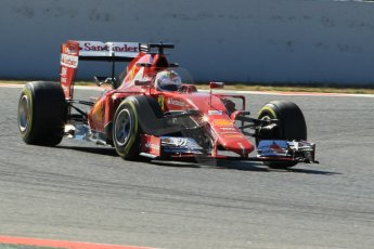 World © Octane Photographic Ltd. Scuderia Ferrari SF15-T– Sebastian Vettel. Sunday 22nd February 2015, F1 Winter test #2, Circuit de Barcelona Catalunya, Spain, Day 4. Digital Ref: 1191CB1L9238