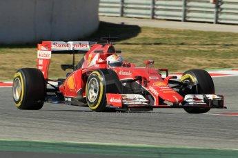 World © Octane Photographic Ltd. Scuderia Ferrari SF15-T– Sebastian Vettel. Sunday 22nd February 2015, F1 Winter test #2, Circuit de Barcelona Catalunya, Spain, Day 4. Digital Ref: 1191CB1L9312