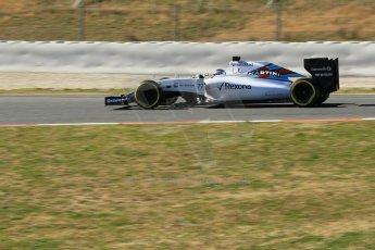 World © Octane Photographic Ltd. Williams Martini Racing FW37 – Valtteri Bottas. Sunday 22nd February 2015, F1 Winter test #2, Circuit de Barcelona Catalunya, Spain, Day 4. Digital Ref: 1191CB1L9351