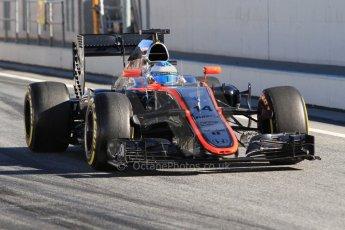 World © Octane Photographic Ltd. McLaren Honda MP4/30 - Fernando Alonso. Sunday 22nd Sunday 22nd February 2015, F1 Winter test #2, Circuit de Barcelona Catalunya, Spain, Day 4. Digital Ref: 1191CB7B0715