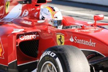 World © Octane Photographic Ltd. Scuderia Ferrari SF15-T– Sebastian Vettel. Sunday 22nd February 2015, F1 Winter test #2, Circuit de Barcelona Catalunya, Spain, Day 4. Digital Ref: 1191CB7B0747
