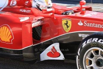World © Octane Photographic Ltd. Scuderia Ferrari SF15-T– Sebastian Vettel. Sunday 22nd February 2015, F1 Winter test #2, Circuit de Barcelona Catalunya, Spain, Day 4. Digital Ref: 1191CB7B0750