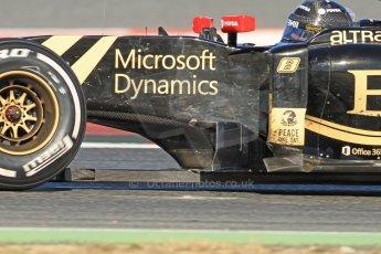 World © Octane Photographic Ltd. Lotus F1 Team E23 Hybrid – Romain Grosjean. Sunday 22nd February 2015, F1 Winter test #2, Circuit de Barcelona Catalunya, Spain, Day 4. Digital Ref :1191CB7B0938