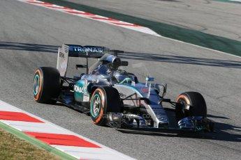 World © Octane Photographic Ltd. Mercedes AMG Petronas F1 W06 Hybrid – Nico Rosberg. Sunday 22nd February 2015, F1 Winter test #2, Circuit de Barcelona, Catalunya, Spain, Day 4. Digital Ref : 1191LB1D0075
