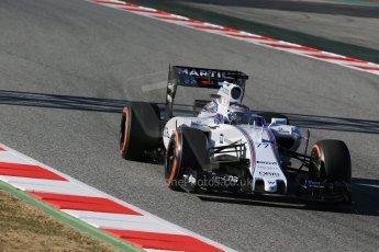 World © Octane Photographic Ltd. Williams Martini Racing FW37 – Valtteri Bottas. Sunday 22nd February 2015, F1 Winter test #2, Circuit de Barcelona, Catalunya, Spain, Day 4. Digital Ref: 1191LB1D0115