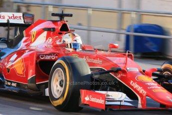 World © Octane Photographic Ltd. Scuderia Ferrari SF15-T– Sebastian Vettel. Sunday 22nd February 2015, F1 Winter testing, Circuit de Catalunya, Barcelona, Spain, Day 4. Digital Ref: 1191LB1D8959
