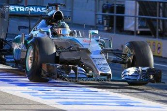 World © Octane Photographic Ltd. Mercedes AMG Petronas F1 W06 Hybrid – Nico Rosberg. Sunday 22nd February 2015, F1 Winter testing, Circuit de Catalunya, Barcelona, Spain, Day 4. Digital Ref : 1191LB1D9009