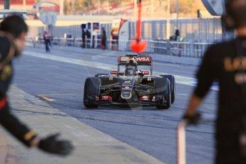 World © Octane Photographic Ltd. Lotus F1 Team E23 Hybrid – Romain Grosjean. Sunday 22nd February 2015, F1 Winter testing, Circuit de Catalunya, Barcelona, Spain, Day 4. Digital Ref : 1191LB1D9030
